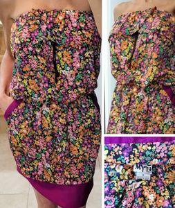 Floral short summer dress